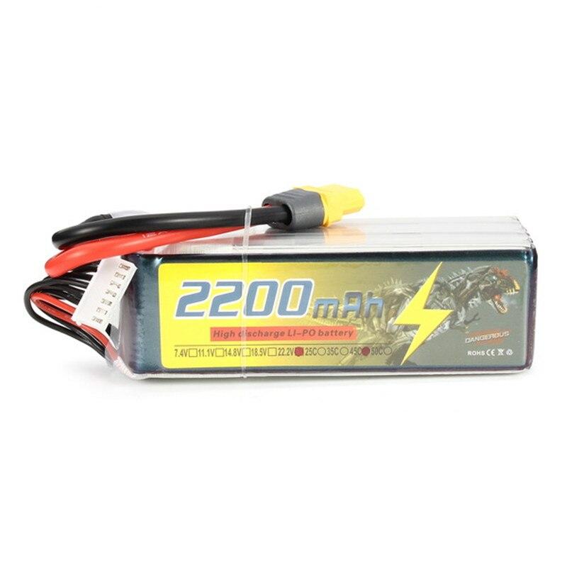 ФОТО Hot Sale DANGEROUS 22.2V 2200mAh 6S 45C Lipo Battery XT60 Plug For SAB Goblin 380 ALZRC 380