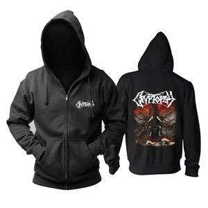 Image 4 - 5 designs cryptopsy Rock Brand Nice Soft Warm zipper hoodies Sweatshirt death metal sudadera shell jacket fleece Outerwear