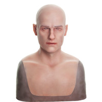 Artificial Realistic Fake Silicone Man Face Human Skin For Female To Be Male Crossdresser Masquerade Halloween Breast Forms