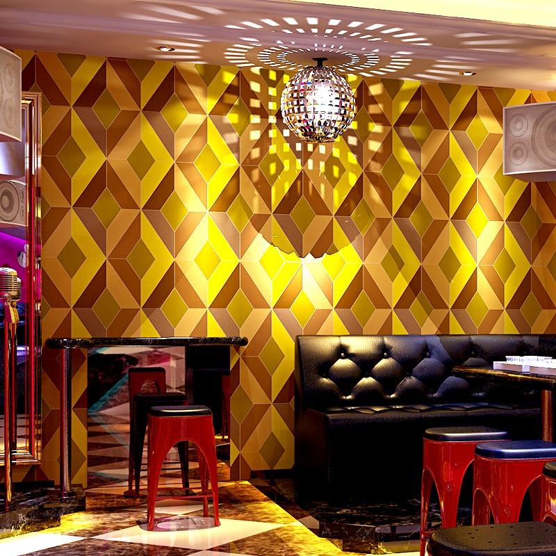KTV Glitter Wallpaper For Walls Roll Modern 3D Stereoscopic Geometry ...