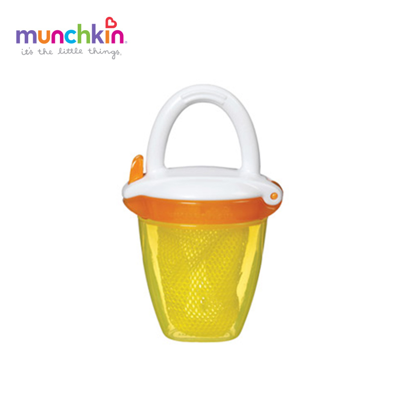Munchkin Deluxe Food baby Feeder Colors Random Send Baby Chew Fruits Vegetables Pacifier Tool 1 Count