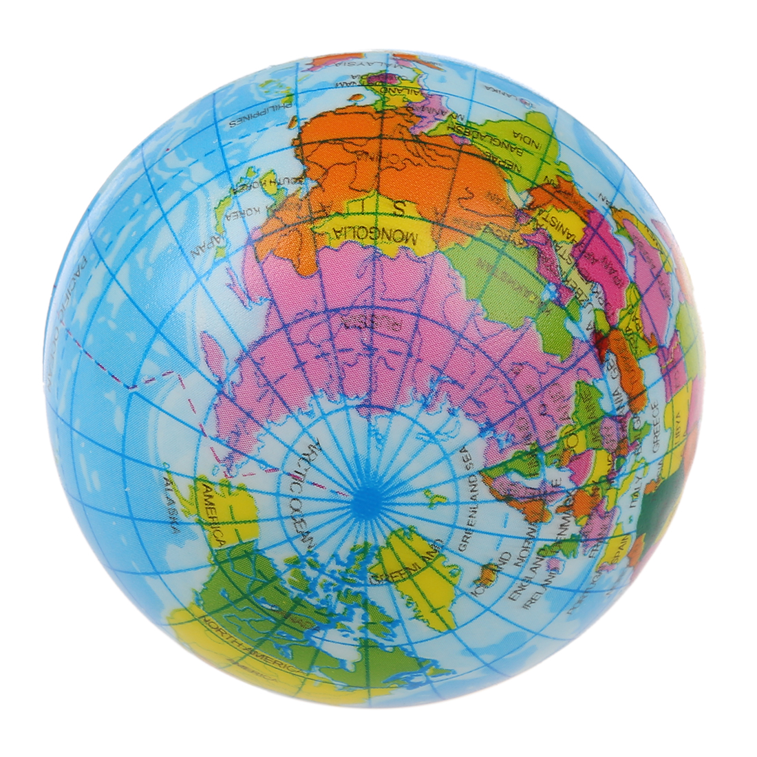 New world map foam earth globe stress relief bouncy ball atlas aeproducttsubject gumiabroncs Gallery