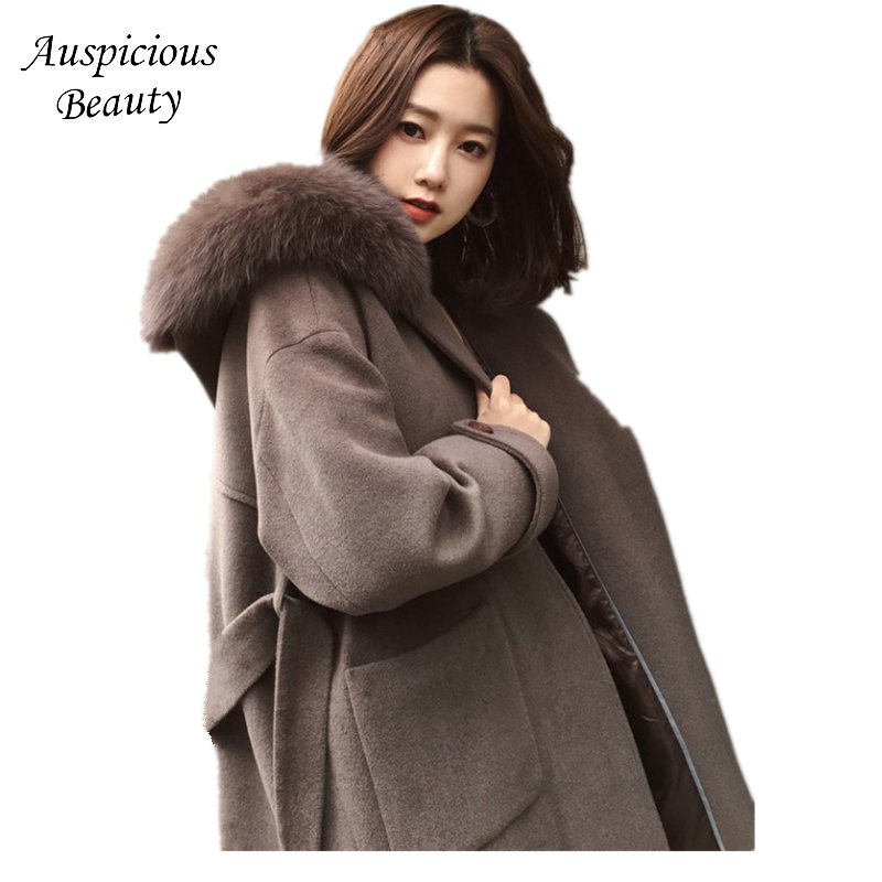 2017 Autumn Winter Woolen Coat New Korean Winter Coat Women Wool Blend Long Coat Long Sleeves Women's Wool Coats Jackets QJW66 new original dvp16xn211r plc digital module es2 series 24vdc 16do relay output