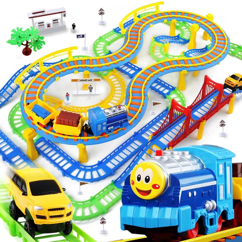Juguetes Cars Pixar Chuggington Thomas and Friends Children's Toys Electric Railcar Train Set Thomas 3-8 Year Gift Rail Trains