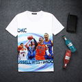 New OKC Russell Westbrook 3D Print Cool Character T-shirt Unisex Kid Fans Loose Comfortable Homme Quality Tops