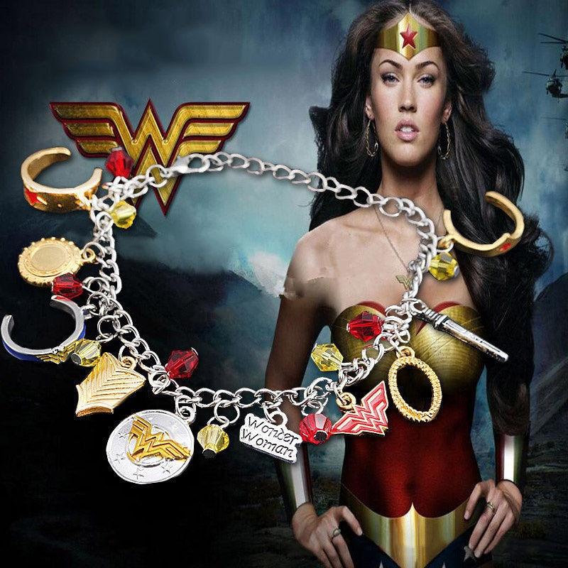 Takerlama Movie Superhero 2017 Wonder Woman Metal Charm Bracelet Bangle Movie Cosplay Accessories