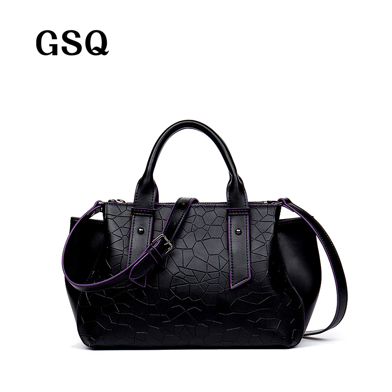 GSQ Women Handbags Luxury Brand Fashion Women's Shoulder Bag Leather Women Bags Elegant Crocodile Pattern Lady Tote 3 Color N118 lauwoo fashion women luxury brand handbag female crocodile prints genuine leather shoulder bag lady elegant tassels tote bags