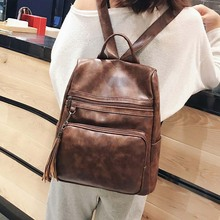 Women Backpack Soft Leather Bow Pink School Backpacks For Teenager Girls Casual Large Shoulder Bag Female Travel Mochila