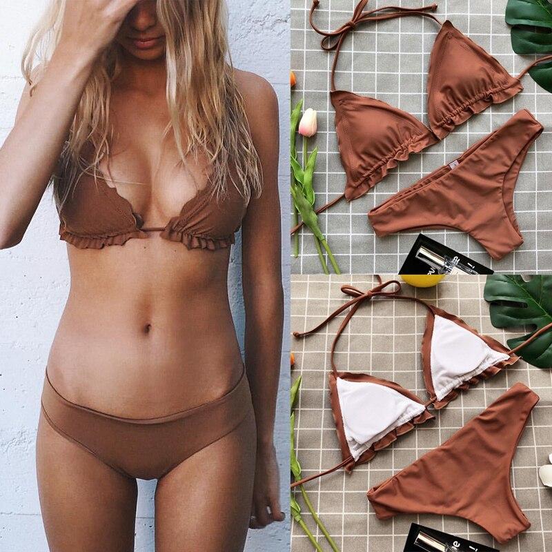strapless mini bikini