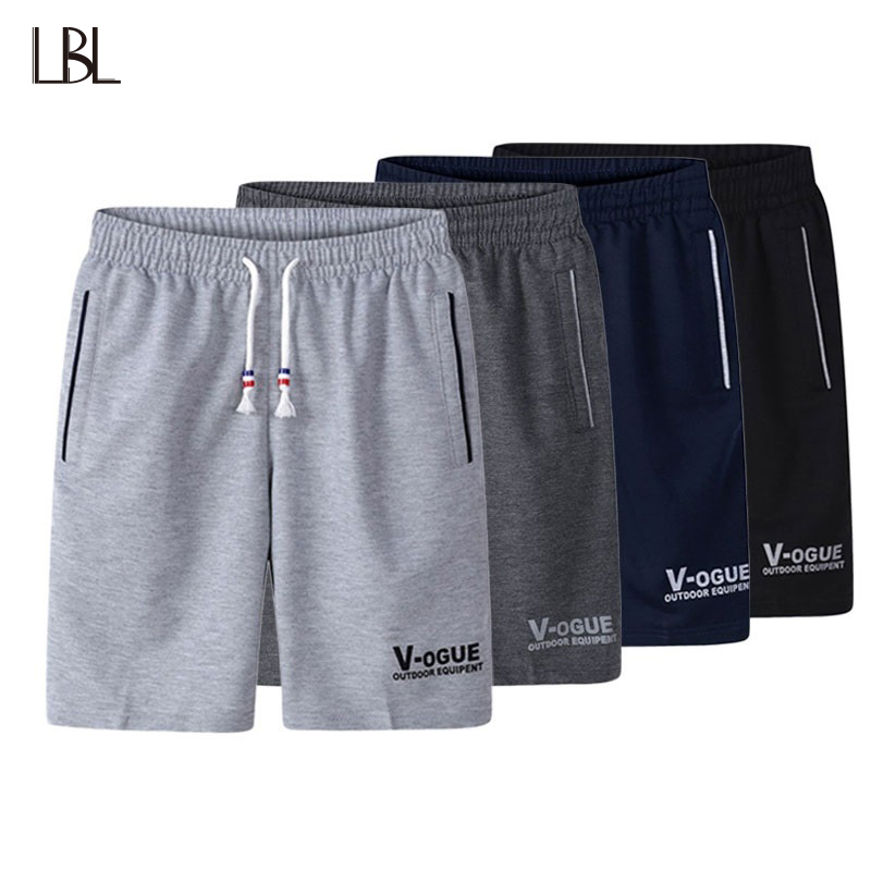 LBL Casual Shorts Men Streetwear Elastic Waist Boardshorts Man Bermuda Masculina Bodybuilding Short Sweatpants Mens Trousers 5XL