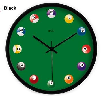 Personalized Art Wall Clock Classic Billiards pattern home wall clock Creative billiard wall clock