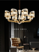 LED Crystal chandelier Nordic Zinc alloy pendant lamps French luxury jade hanging lights living room fixtures bedroom lighting