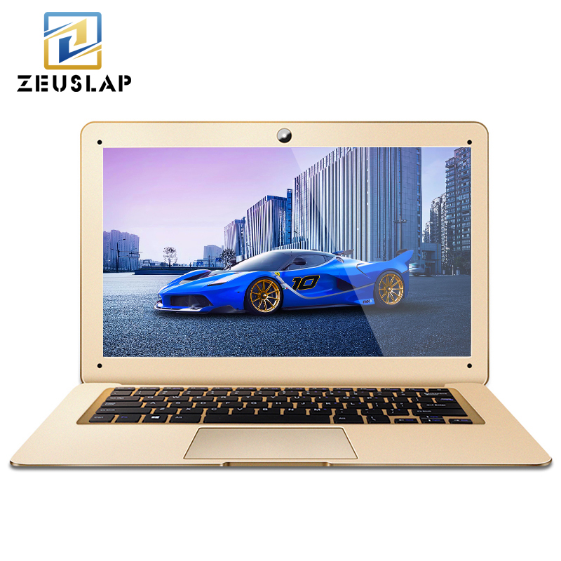ZEUSLAP-A8 14inch 8GB RAM+1TB HDD Windows 10 System Intel Quad Core 1920*1080P Full HD Laptop Notebook Computer zeuslap 15 6inch intel core i7 or celeron 8gb ram 1tb hdd windows 7 10 system wifi bluetooth cd rw rom laptop notebook computer