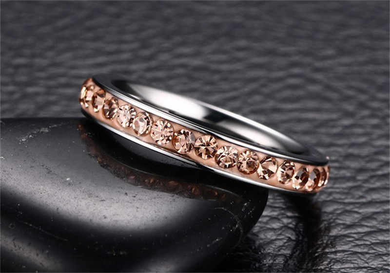 CC Vintage Rings For Women And Men Titanium Steel Fashion Jewelry Mud Colorful Ring Cubic Zirconia Anillos Mujer CC980d