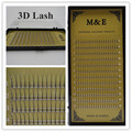 M & E 1 Bandeja 3D Cílios Postiços Premade Fãs Sofe Único Volume de Raiz Em Cluster Cílios Preto Longo Falso Profissional Cílios vison