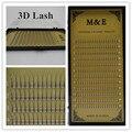 M&E 1 Tray 3D False Eyelashes Premade Fans Single Root Volume Clustered Eyelashes Sofe Long Black Professional Fake Mink Lashes