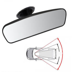 Newest Car Rear Mirror Interior Rear View Mirror With PVC Sucker Wide-angle Rearview Mirror Auto Convex Curve Car-styling Hot