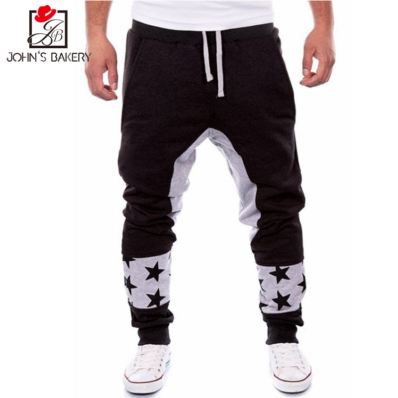 Johns Real Bakery New Arrived 2018 Brand Casual Joggers Star Prints Compression Pants Men Cotton Trousers Calabasas Cargo Mens
