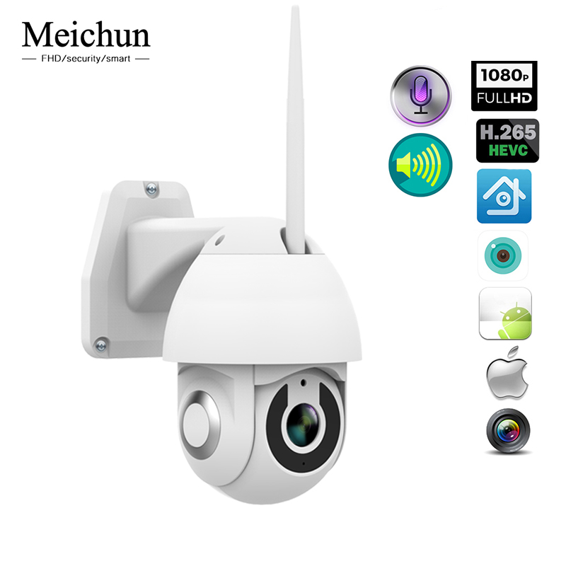 Meichun WIFI Camera PTZ IP Camera 2MP 1080p Speed Dome Outdoor Indoor Surveillance Camera Home Security Camera WIFI CCTVMeichun WIFI Camera PTZ IP Camera 2MP 1080p Speed Dome Outdoor Indoor Surveillance Camera Home Security Camera WIFI CCTV
