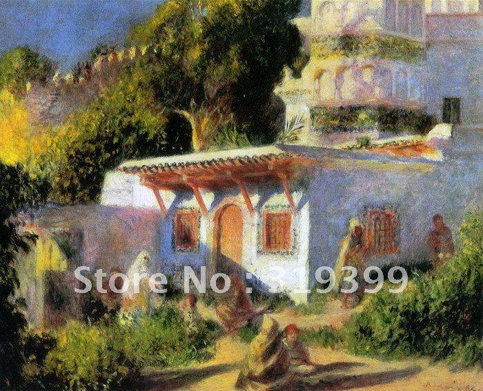 Картина маслом Размножение на льняном холсте, мечети в Алжире Пьера Огюста Ренуара, Бесплатная Доставка Fedex, ручной работы
