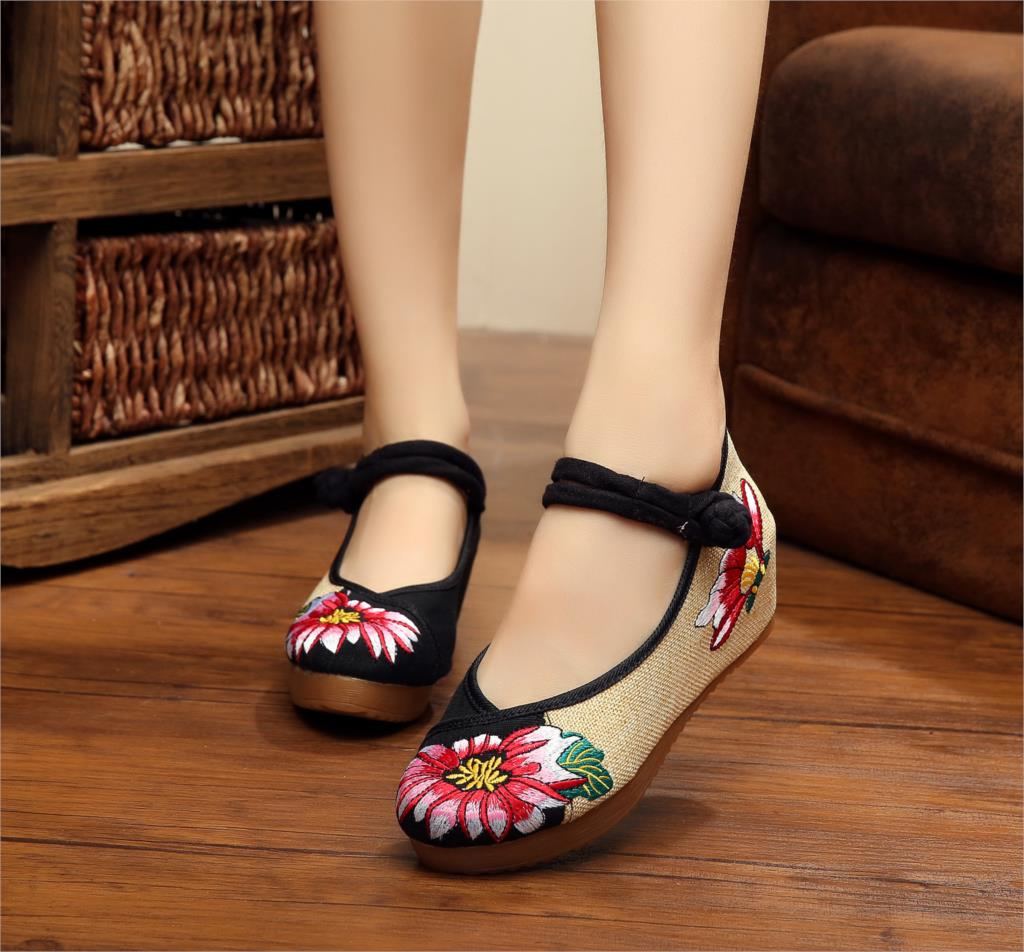 Plus Size 40 Fashion Women Shoes Old Beijing Mary Jane Flats With Casual Shoes C