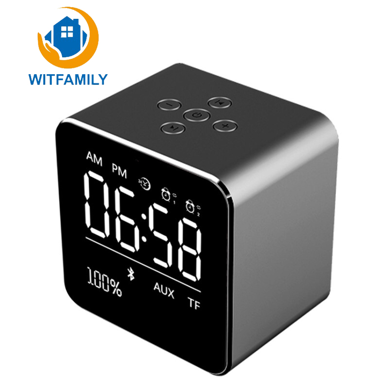 2017 New Bluetooth 1800mA Metal Portable Bluetooth Speakers with Monitor Alarm Clock Energy Saving and Durable Advanced Speakers