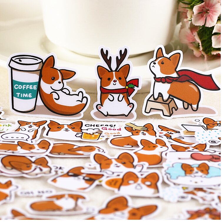 39pcs Creative Cute  Self-made Coco Dog 2/ Cute Dog Scrapbooking Stickers /Decorative Sticker /DIY Craft Photo Albums