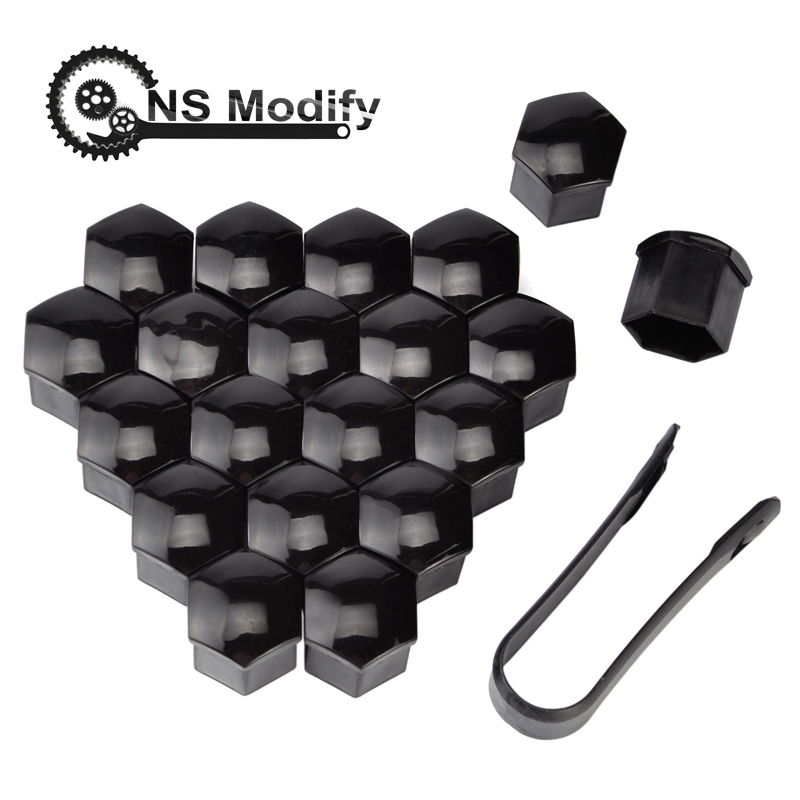 NS Modify 20pcs 19mm Tyre Wheel Hub Covers Wheel Nuts Covers Protection Caps Tire Wheel Screw Bolts Nut Caps Hub Screw Protector
