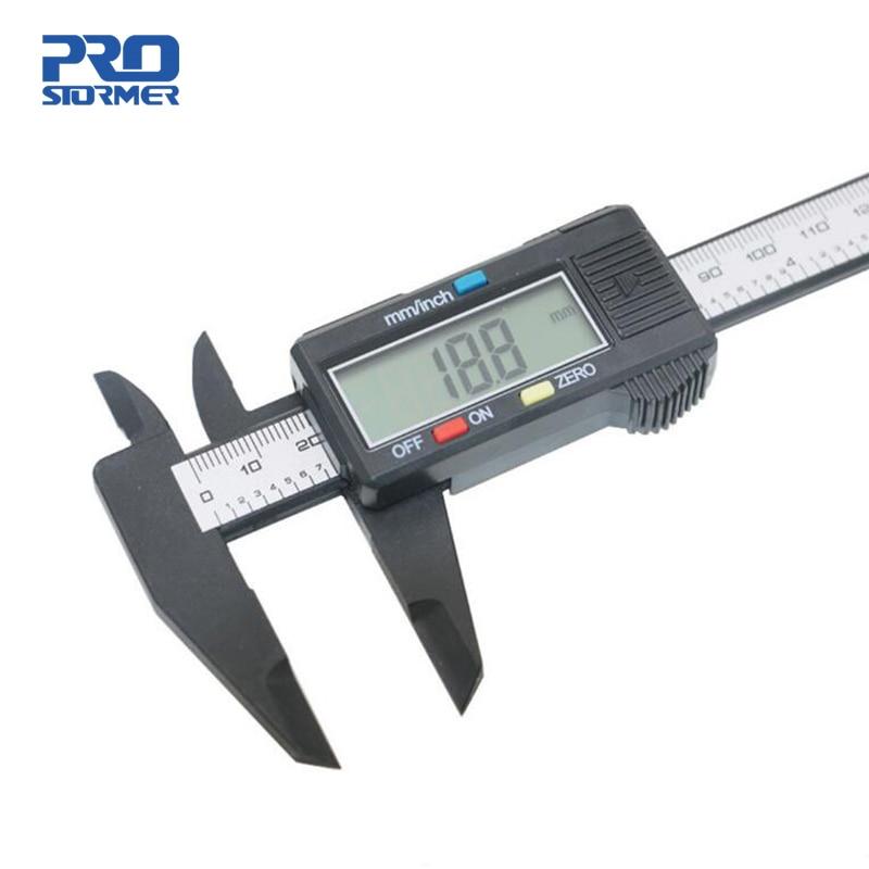 Prostormer 0 150mm font b Electronic b font Digital Caliper 6 Inch Plastic Carbon Fiber Vernier
