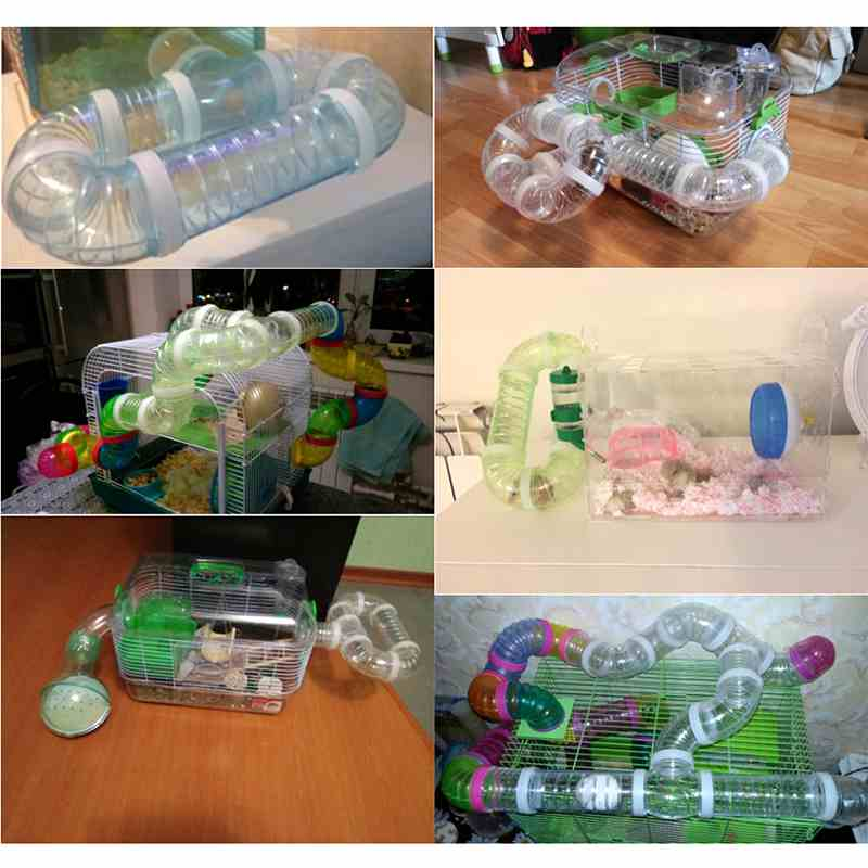 New Hamster Accessories External DIY Pipeline Tunnel Fittings Color Blue White Pink Green Hamster Tunnel ...