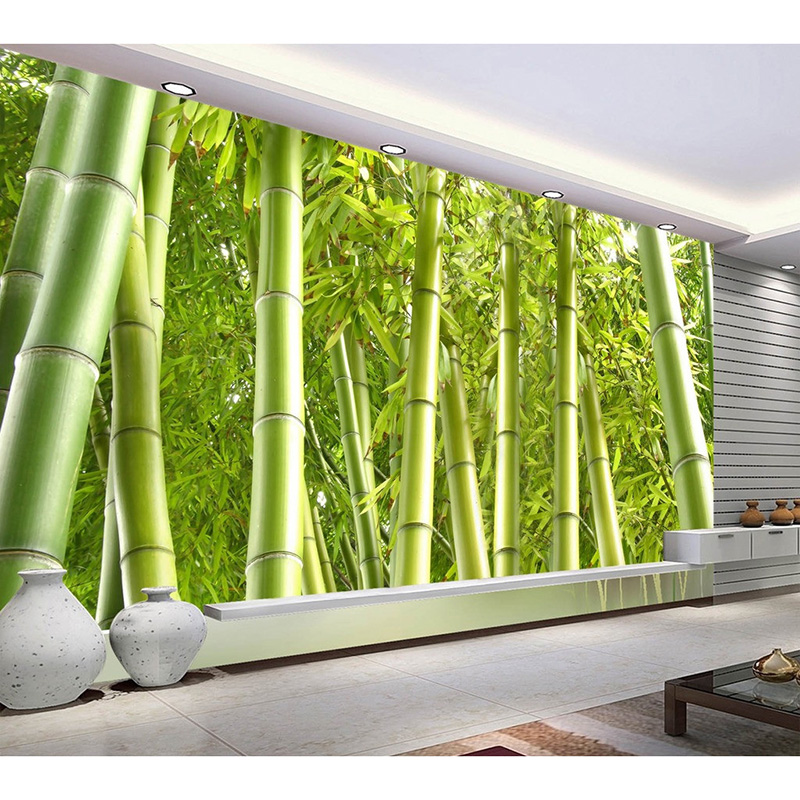 Online get cheap bamboo forest alibaba group for Bamboo mural wallpaper