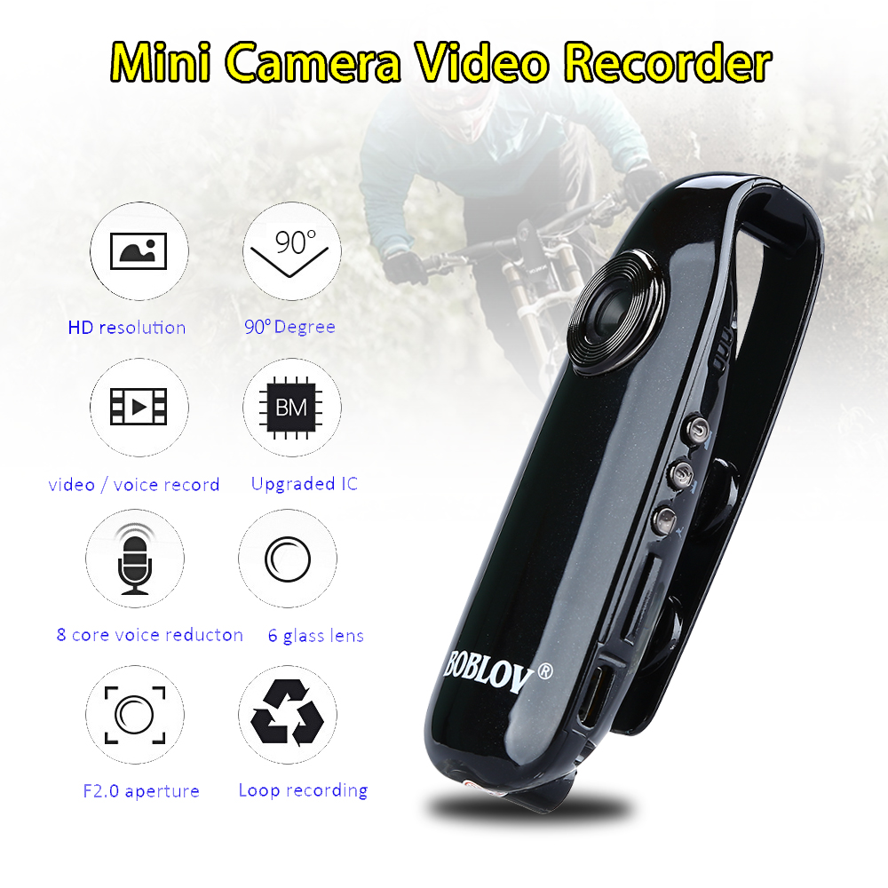 BOBLOV IDV007 Full HD 1080P Mini DV Camera Dash Cam Wearable Body Bike H 264 Camcorder