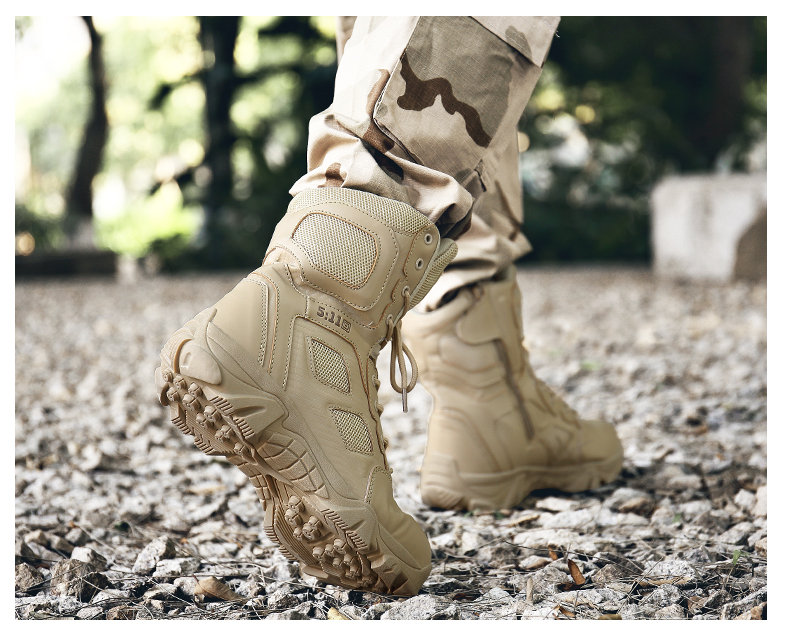 Brand Men\'s Boots Big Size Military boot Chukka Ankle Bot Tactical Army Male Shoes Safety Combat Mens Motocycle Boots (13)