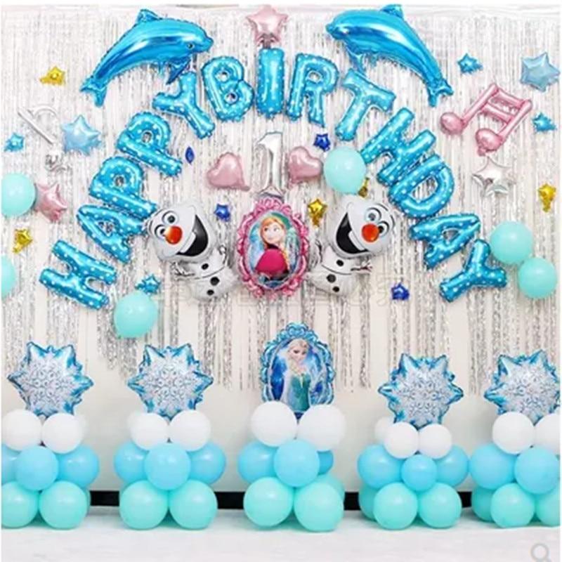 Elsa Frozen Ulang Tahun Balon Paket Pesta Lajang Dekorasi