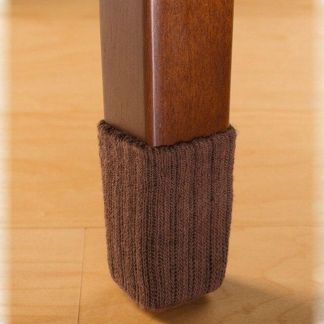 Qy 4 Pieces Chair Leg Caps Floor Protector Pads Non Scratch Table Pad Desk Noise