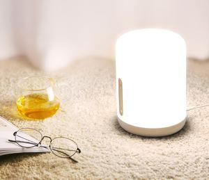 Image 3 - مصباح شاومي Mijia بجانب السرير 2 مصباح ذكي للتحكم في الصوت مفتاح لمس Mi تطبيق منزلي لمبة Led لأبل Homekit Siri و xiaoai ساعة