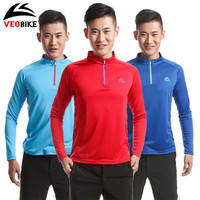 VEOBIKE Long Sleeve Breathable Quick Dry Autumn Men Outdoor Sports Shirts Bicycle Clothes Jacket MTB Riding