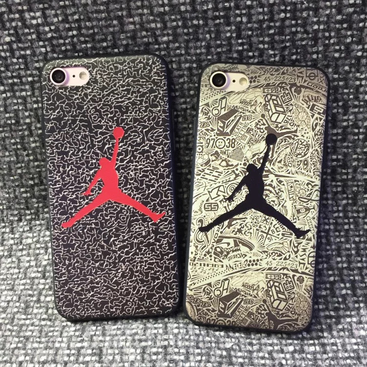 2017 Real Limited No Anti-knock Michael Jordan Jersey Silicone Phone Cases For Iphone 6 6s I6 Plus For 7 Mobile Bag Coque Cover