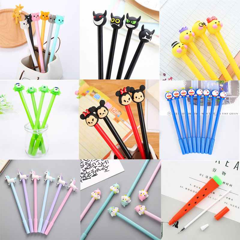 The Office School Supplies Cartoon Gel Pen Student Exam Writing Signature Pen Variety Of Options Stationery Chancellory Pens