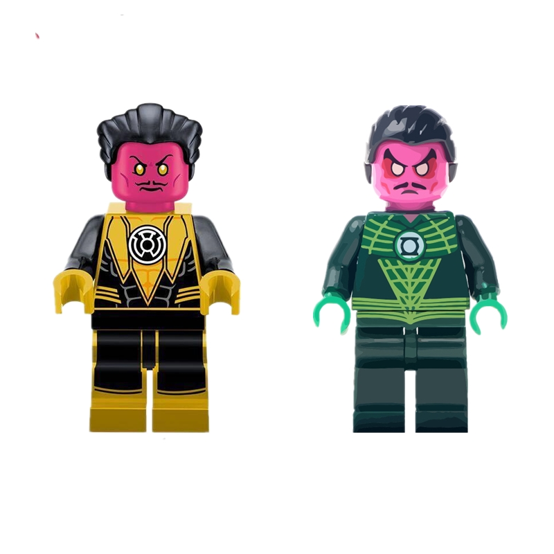 Single Sale Super Hero Thaal Sinestro Figure Yellow Green Lantern Luke Cage Building Blocks Models Toys single sale decool 0250 0255 captain america figure civil war building blocks marvel hero models toys