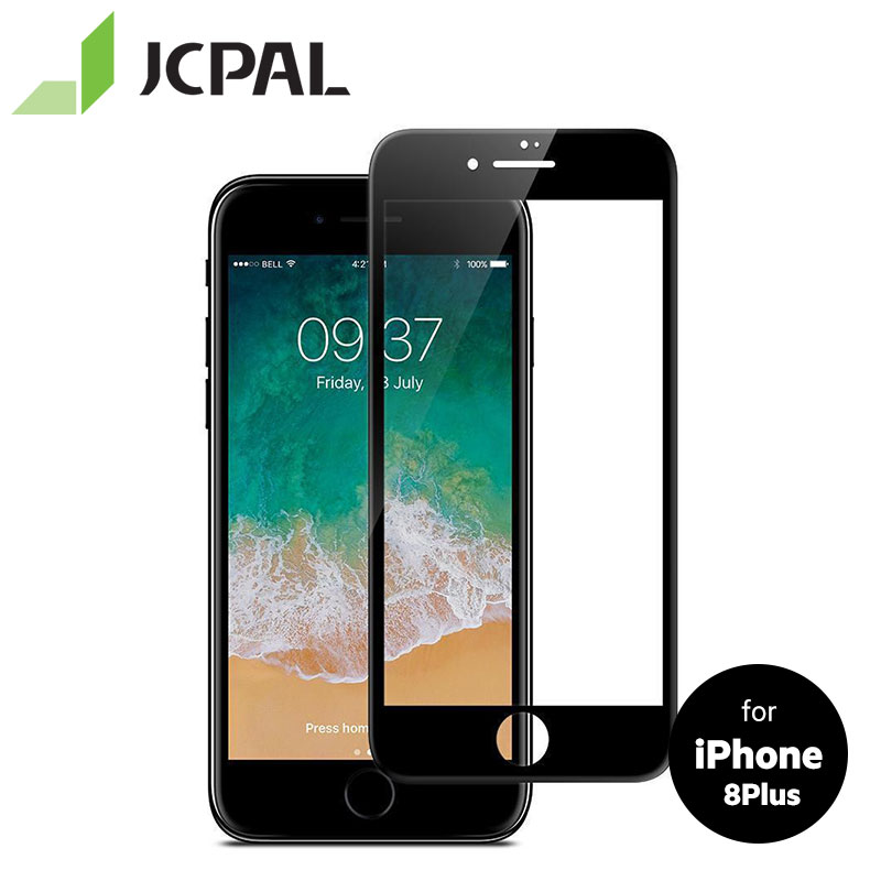 JCPAL Presever Protezione Dello Schermo di Vetro per il iphone 8 Plus con 9 H livello di protezione antigraffio Anti-impronte digitali facile da installare 51447