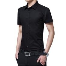 Brand New Arrival Men's Summer Business Shirt Short Sleeves Turn-down Collar  Shirt Dress Shirt Men Cotton Shirts Big Size 5XL