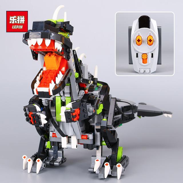 NEW Lepin 24010 792Pcs Creative Series The three-in-one remote control vocal dinosaur set 4958 Building blocks bricks toys Gift love for three oranges vocal score