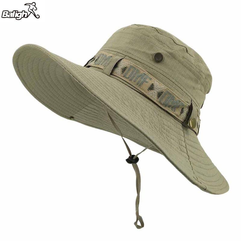 Dropwow Balight HOT Fishing Sun Boonie Hat Summer UV Protection Cap Outdoor Hunting  Hat Outdoor Summer Fisherman Hat 6061ecd99e35
