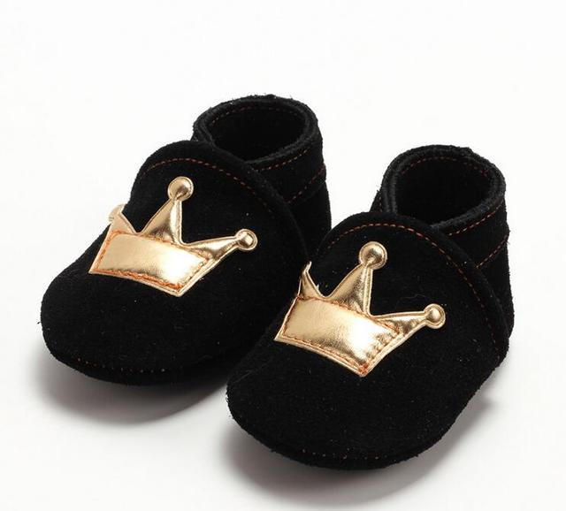 Diseño de recogida 1 Par Enviar Nuevos Navidad Matorrales Mocasines De Cuero Del Bebé Infantil Primer Caminante 0-24Month