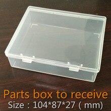 Части окна складной Пластиковый прямоугольник Коробки Прозрачный Пластиковый Контейнер Для Хранения Пустой Компонент Винт Ювелирные Изделия Ящики Для Инструментов