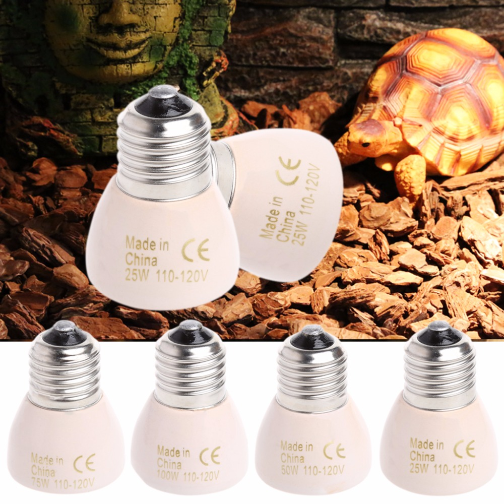 E27 IR Infrared Ceramic Emitted Heat Lamp Light Bulb For Reptilia Animal Use
