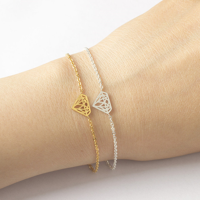afae1700221b3 LINDO CONTO Ouro Cor Corrente de Prata Delicada Delicado Cristal Encantos  Pulseira Para As Mulheres Amizade