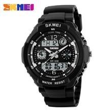 SKMEI Dual Display Digital Watch Chronograph LED Sport Watches PU Strap Waterproof Fashion Wristwatch Relogio Masculino 1060