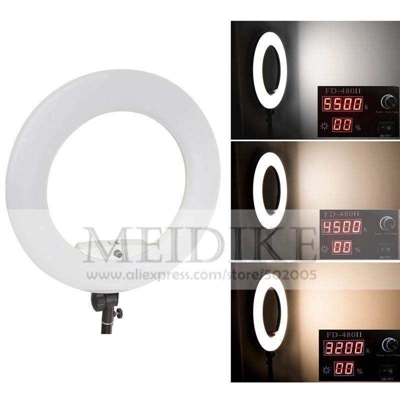 HTB1K1olpbGYBuNjy0Foq6AiBFXaO Yidoblo 96W Ring Light FD-480 Pro Beauty Studio LED Ring lamp Kit 480 LEDS Video Light Lamp Makeup Lighting + stand (2M)+ bag